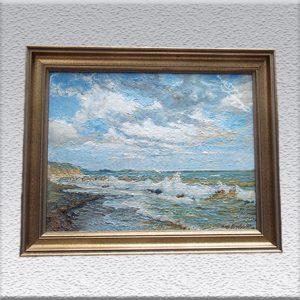 Hermann Drechsler (HB): Ostsee bei Kellenhusen (1924) Ölgemälde, gerahmt, 52 cm x 66 cm, 790,- €