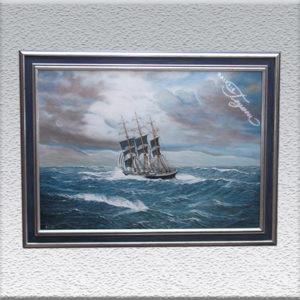 A. Lodder Dreimast-Segelschiff (2007) Ölgemälde, gerahmt, 86 x 116 cm 690,- €