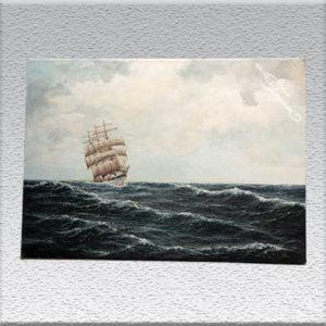 A. Döring Dreimaster auf hoher See Ölgemälde, ungerahmt, 70 cm x 97 cm, 690,- €
