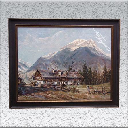 Louis Wöhner / Berg Daniel (bei Ehrwald – Tirol) Ölgemälde, gerahmt, 78 x 93 cm 2500,- €