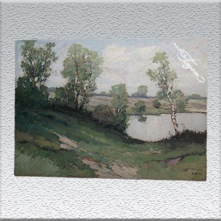 Otto Wild, Birken am See Ölgemälde, ungerahmt, 70 x 100 cm 890,- €