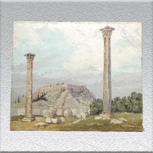 Hans Hentschke: Blick auf die Akropolis