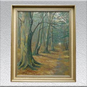 Sophie Wencke: Waldweg in Forst Hocken, Linstorf, 1937