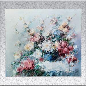I. Henze-Morro: impressionistisches Blumenbild