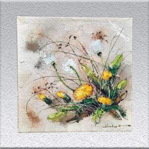 Didot: Öl auf Sand gemalt - Blumen