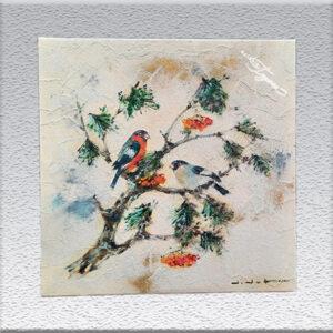 Didot: Öl auf Sand gemalt - Vögel