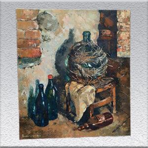 E. Bernard-Reichelt: im Weinkeller